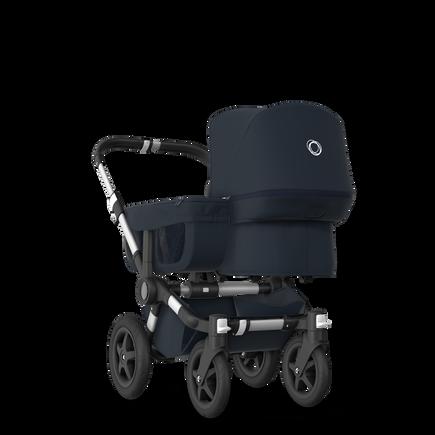 EU Bugaboo Donkey 2 Mono Seat and bassinet Classic Dark Navy, Aluminium Chassis