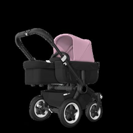 US - D2M stroller bundle black, black, soft pink