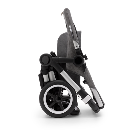 Bugaboo Donkey 3 Duo seat and bassinet stroller classic dark navy sun canopy, classic dark navy style set, aluminium base