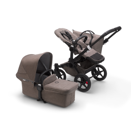 AU - Bugaboo Donkey 3 Duo Seat and Bassinet pram BLACK/TAUPE