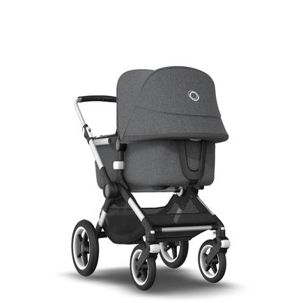 AU - Bugaboo Fox 2 Seat and Bassinet Stroller Grey Melange, Aluminum chassis