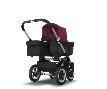 US - D2M stroller bundle aluminum, black, ruby red