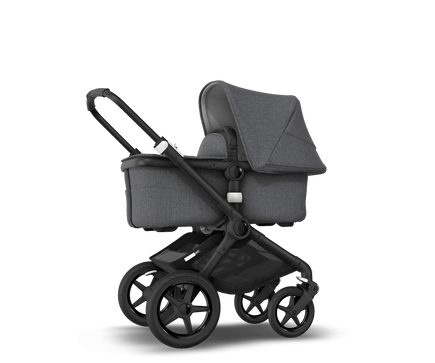 US - Bugaboo Fox2 stroller bundle black grey melange grey melange