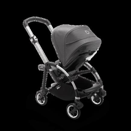Bugaboo Bee 6 seat stroller grey melange sun canopy, grey melange fabrics, aluminium base