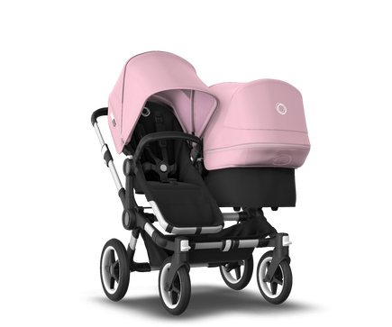 US - Bugaboo D3D stroller bundle aluminum black soft pink