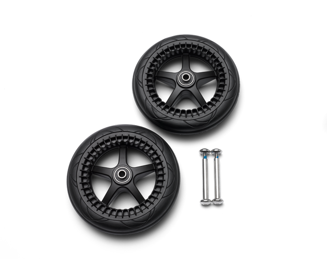 Bugaboo Bee 5 rear wheels replacement set Black