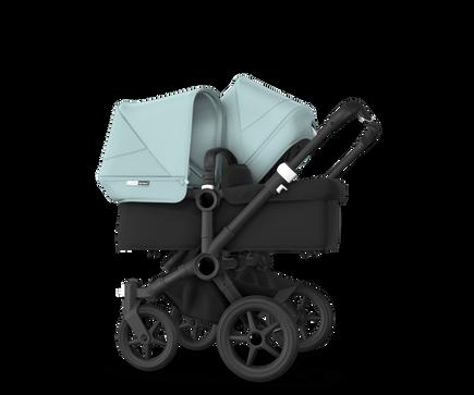 US - Bugaboo D3D stroller bundle black black vapor blue