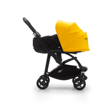 US - B6 bassinet stroller bundle black, black, lemon yellow