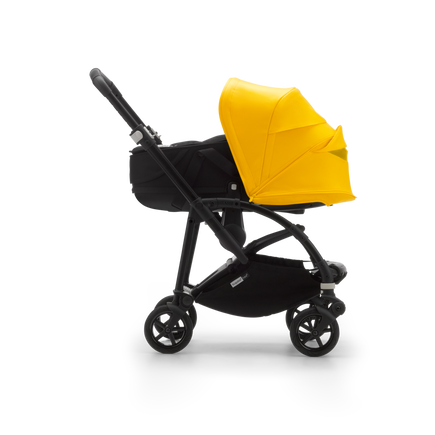 US - B6 bassinet stroller bundle black, black, lemon yellow