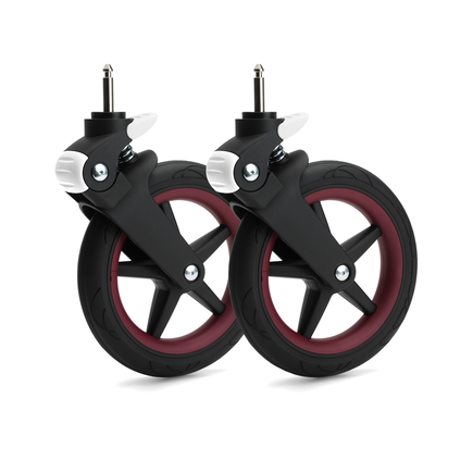 Bugaboo Fox wheel caps DARK RED