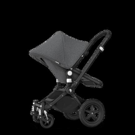 Bugaboo Cameleon 3 Plus seat and bassinet stroller grey melange sun canopy, grey melange fabrics, black base