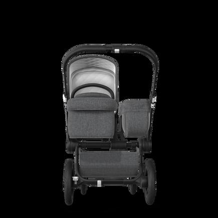 EU Bugaboo Donkey 2 Mono Seat and bassinet Classic Grey Melange, Black Chassis