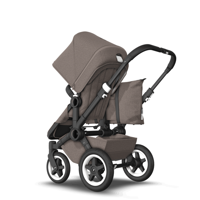 EU Bugaboo Donkey 2 Mono Seat and bassinet Mineral Taupe melange, Black Chassis
