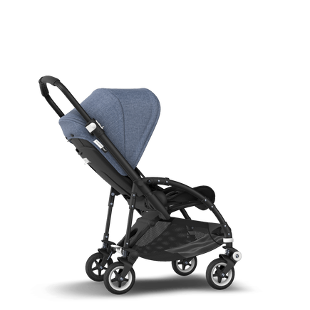 Bugaboo Bee 5 seat pushchair blue melange sun canopy, black fabrics, black base