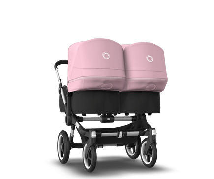 US - Bugaboo D3T stroller bundle aluminum black soft pink