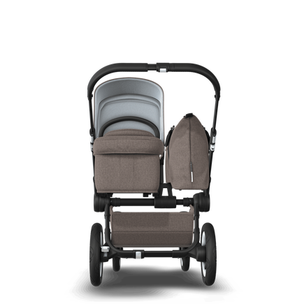 UK Bugaboo Donkey 2 Mono Seat and bassinet pushchair Mineral taupe melange, Black Chassis