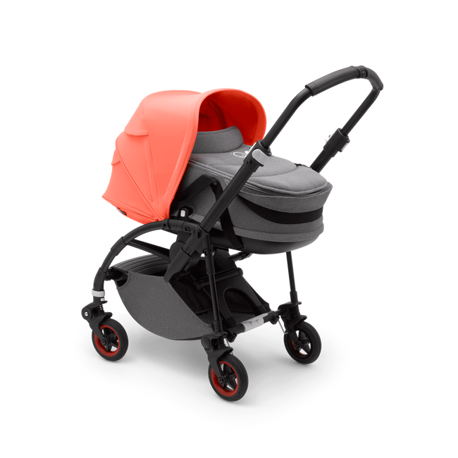 Bugaboo Bee 5 Coral Pretty Perfect seat and bassinet stroller