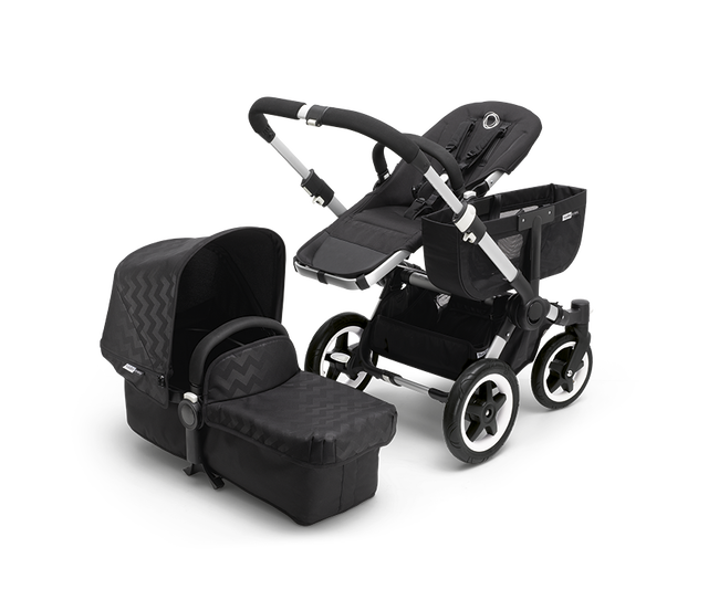 Bugaboo Donkey tailored fabric set (extendable sun canopy) Black Intense