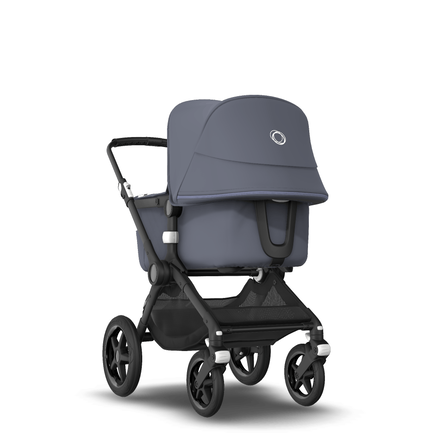 Fox2 Seat and Bassinet Stroller Steel Blue, Black Chasis