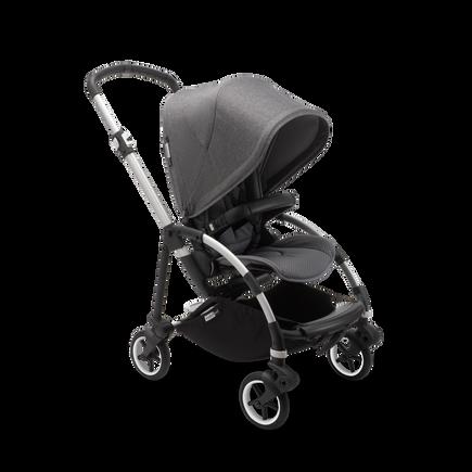 US - B6 seat stroller bundle aluminum, grey melange, grey melange