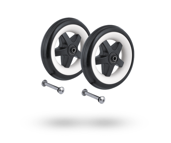 Bugaboo Bee 3 front wheels replacement set Black