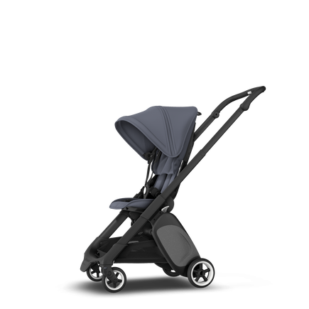 Bugaboo Ant seat stroller steel blue sun canopy, steel blue fabrics, black base