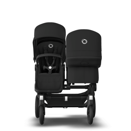 Bugaboo Donkey 3 Duo Black sun canopy, black seat, black chassis