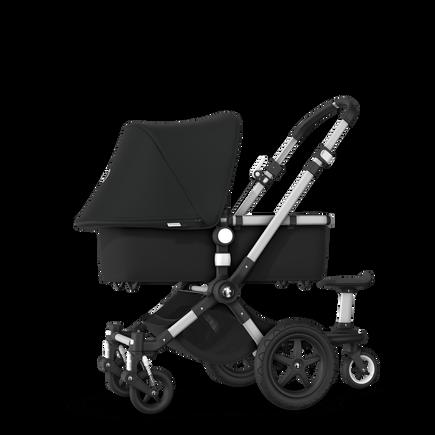 Bugaboo Cameleon 3 Plus sit and stand stroller black sun canopy, black fabrics, aluminium base