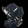 EU Bugaboo Donkey 2 Duo Classic Dark Navy, Aluminium Chassis