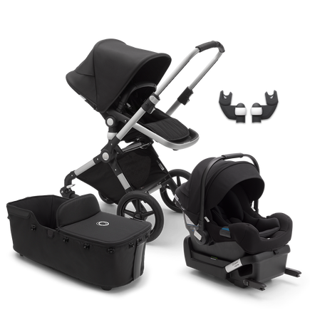 US - Lynx aluminum, black, black & Bassinet & Turtle