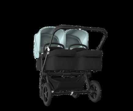 US - Bugaboo D3T stroller bundle black black vapor blue