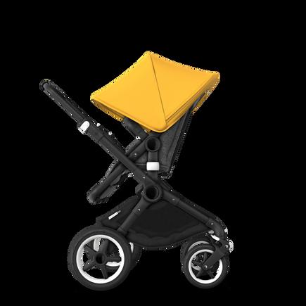 US - Bugaboo Fox stroller bundle black grey melange sunrise yellow