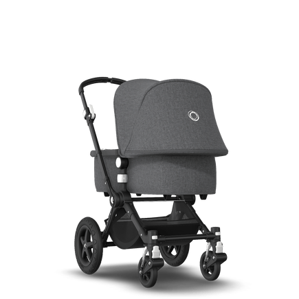Bugaboo Cameleon 3 Plus Ready to go further bundle grey mélange sun canopy, grey mélange fabrics, black base