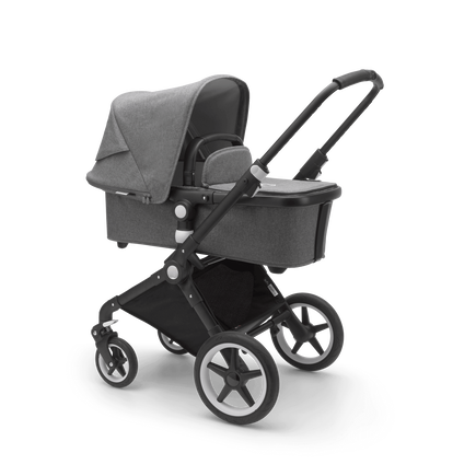 Bugaboo Lynx Ready to go further bundle grey mélange sun canopy, grey mélange fabrics, black base