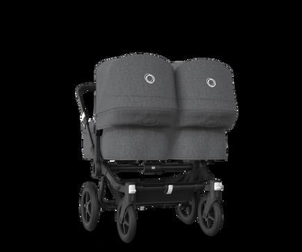 US - Bugaboo D3T stroller bundle black grey melange grey melange
