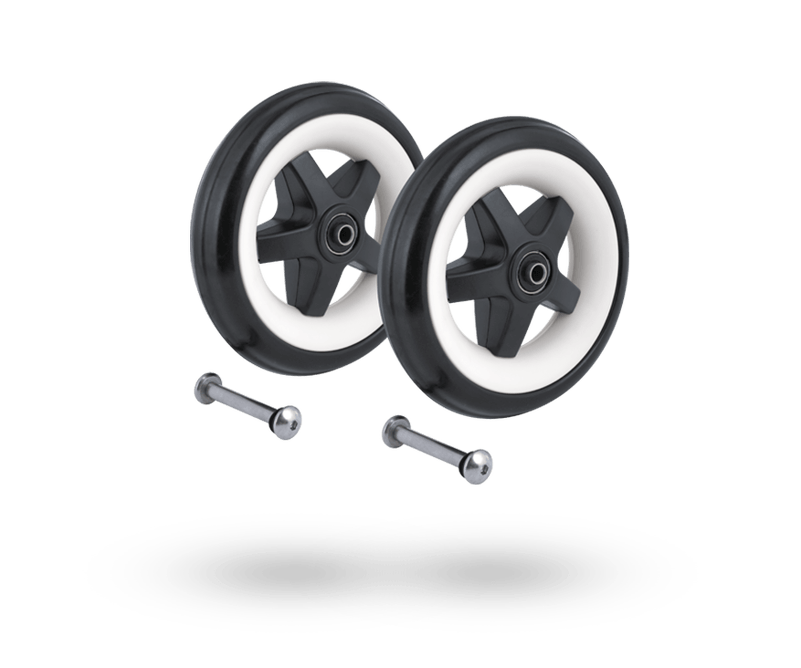 Bugaboo Bee 3 rear wheels replacement set  Black