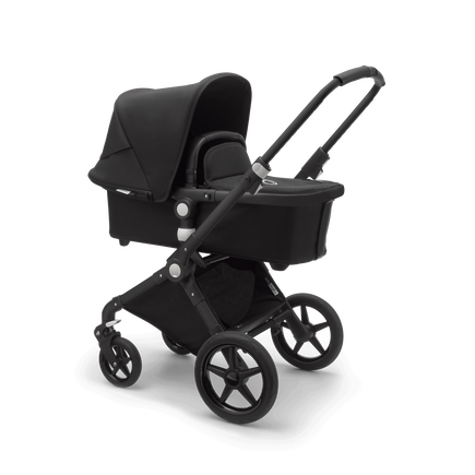 Bugaboo Lynx Ready to go further bundle black sun canopy, black fabrics, black base