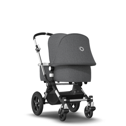 Bugaboo Cameleon 3 Plus Ready to go bundle grey mélange sun canopy, grey mélange fabrics, black base
