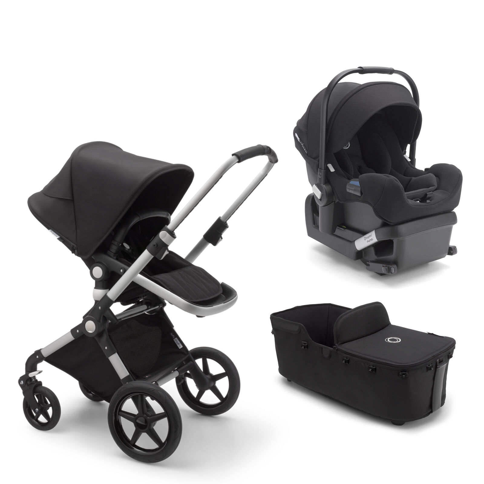 Bugaboo Lynx, Lynx bassinet and Turtle by Nuna