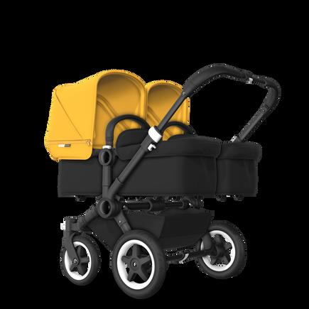 US - D2T stroller bundle black, black, sunrise yellow
