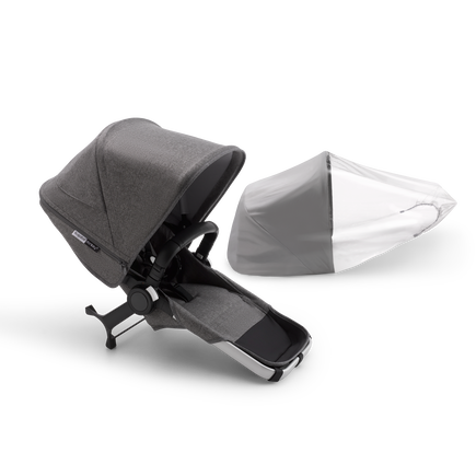 Bugaboo Donkey 3 duo extension complete | ALU/GREY MELANGE-GREY ME