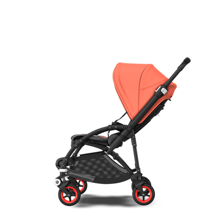ASIA - Bee 5 seat stroller Coral collection, black chassis