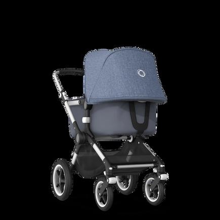 Bugaboo Fox blue melange sun canopy, steel blue fabrics, aluminium chassis