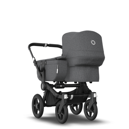 Bugaboo Donkey 3 Mono seat and bassinet stroller grey melange sun canopy, grey melange style set, black base
