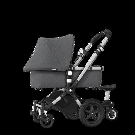 Bugaboo Cameleon 3 Plus sit and stand stroller grey melange sun canopy, grey melange fabrics, aluminium base