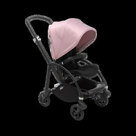 Bugaboo Bee 6 seat stroller soft pink sun canopy, black fabrics, black chassis
