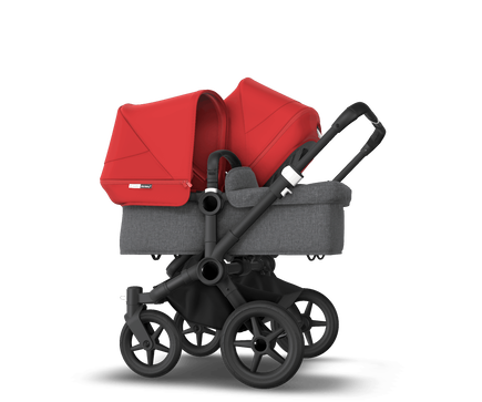 US - Bugaboo D3D stroller bundle black grey melange red