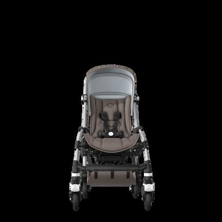 Bugaboo Bee 5 seat stroller mineral taupe melange sun canopy, mineral taupe melange fabrics, aluminium base