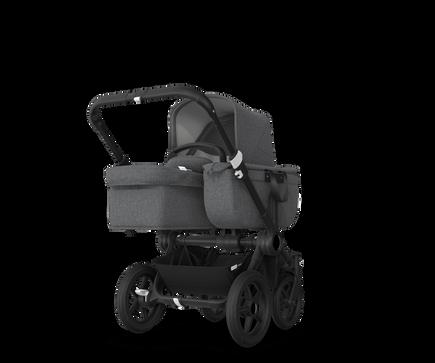 US - Bugaboo D3M stroller bundle black grey melange grey melange