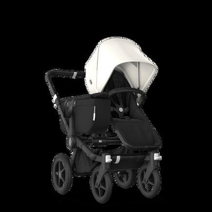 Bugaboo Donkey 3 Mono Complete fresh white sun canopy, black seat, black chassis